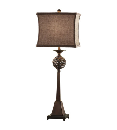 Feiss Independents 1 Light Table Lamp in Sunlit Copper 10036SLC photo