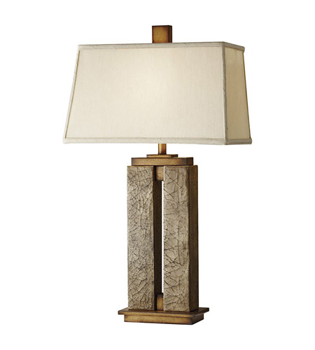 Feiss Justice 1 Light Table Lamp in Crackled Cream 10044CCM photo
