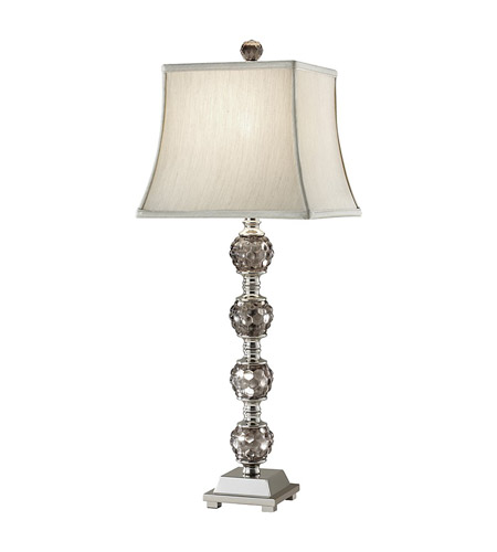 Feiss Independents 1 Light Table Lamp in Smokey Glass and Polished Nickel 10049SMG/PN photo