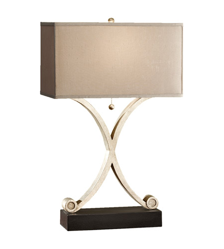 Feiss Amaya 1 Light Table Lamp in Ebonized Silver Leaf and Black 10076ESL/BK photo