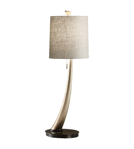 Feiss Armand 1 Light Table Lamp in Ebonized Silver Leaf 10083ESL photo
