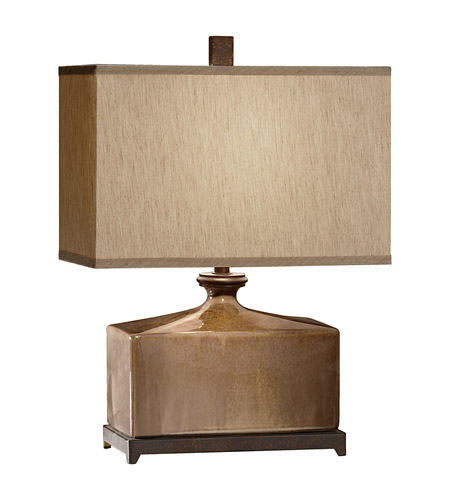 Feiss Independents 1 Light Table Lamp in Cinnamon Glaze and Oil Rubbed Bronze Accents 10088CGZ/ORB photo