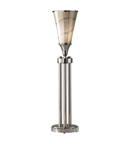 Feiss Maxson 1 Light Table Torchiere in Polished Nickel 10117PN photo