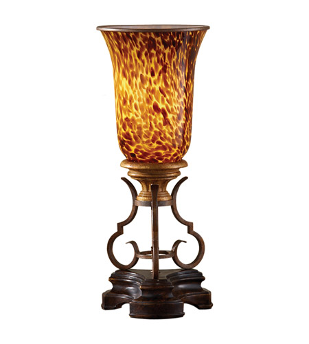 Murray Feiss Post Base: Feiss Marisol 1 Light Table Torchiere In British Bronze