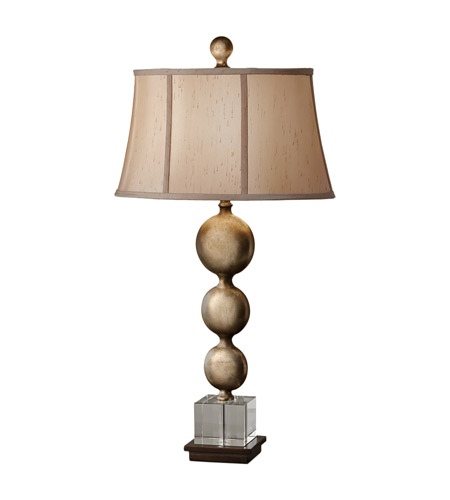 Feiss Davidson 1 Light Table Lamp in Antique Copper and Silver Leaf Patina 10141ABZ/SLP photo