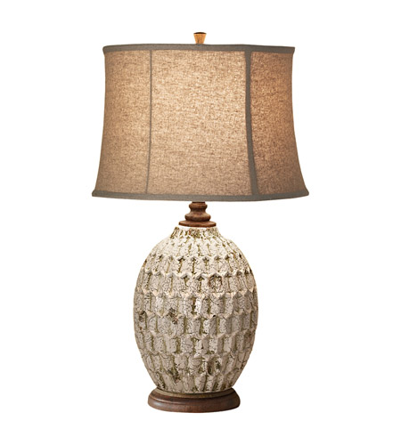 Feiss Antica Ceramica 1 Light Table Lamp in Antique White and Bronze 10149AWT/BZ photo