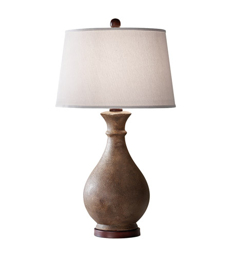 Feiss Antica Ceramica 1 Light Table Lamp in Dappled Ivory 10154DIV photo