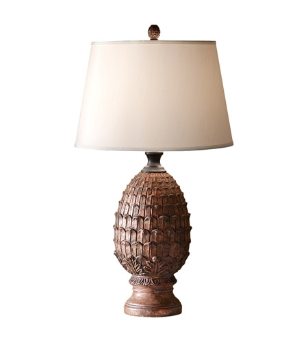Feiss Antica Ceramica 1 Light Table Lamp in Dappled Brown 10160DBR photo