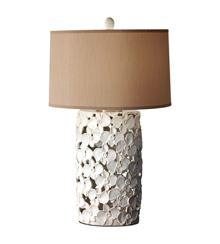 Feiss Garden Relic 1 Light Table Lamp in White and Taupe 10161WT/TP photo