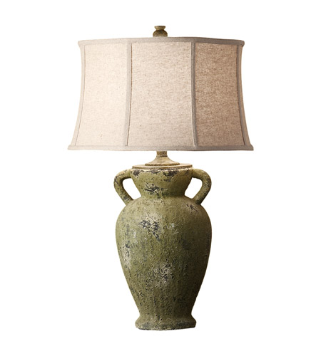 Feiss Garden Relic 1 Light Table Lamp in Mossy Stone 10162MSN photo