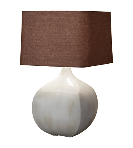 Feiss Ceramica 1 Light Table Lamp in Ivory Crackle 10164IC photo