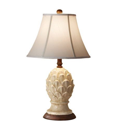 Feiss Garden Relic 1 Light Table Lamp in Antique White Crackle 10167AWC photo