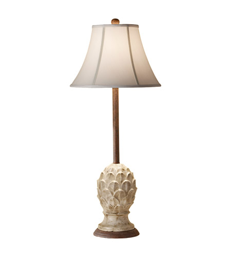 Feiss Garden Relic 1 Light Table Lamp in Antique White Crackle 10168AWC photo