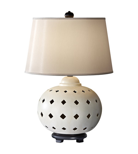 Feiss Ceramica 1 Light Table Lamp in Ivory 10176IV photo