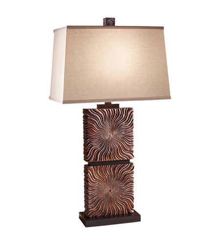 Feiss Abbeyville 1 Light Table Lamp in Woodland Brown 10180WDB photo
