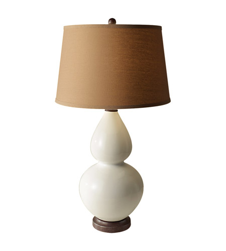 Feiss Seely 1 Light Table Lamp in White Ceramic and Oil Rubbed Bronze 10184WC/ORB photo