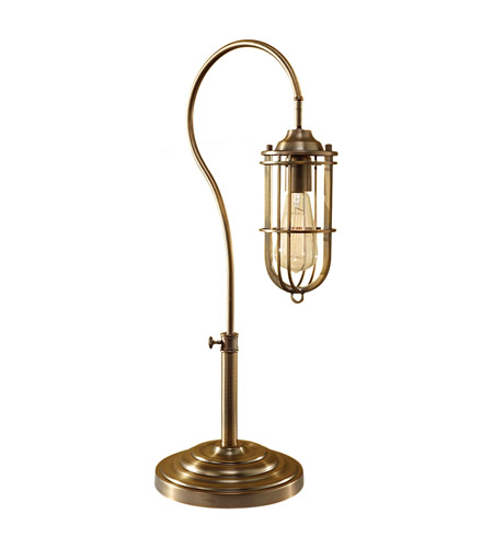 Feiss Urban Renewal 1 Light Table Lamp in Dark Antique Brass 10195DAB photo