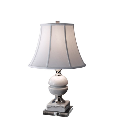 Feiss Signature 1 Light Table Lamp in White Marble and Polished Nickel 10234WM/PN photo