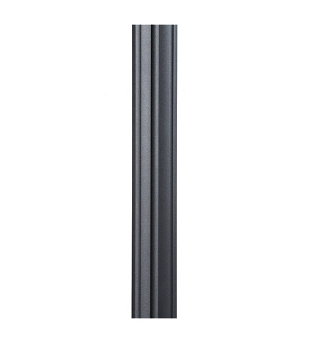 feiss 7post bk 7ft mounting post 84 inch black 7 ft mounting post