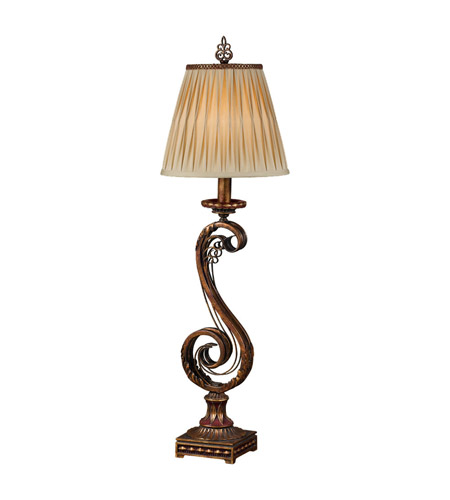 Feiss Independents 1 Light Table Lamp in Firenze Gold 9404FG photo