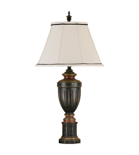 Feiss Chandler Library 1 Light Table Lamp in Rubbed Wood 9478RW photo