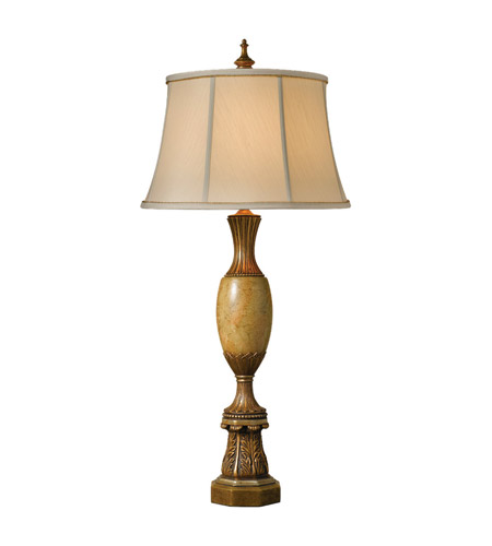 Feiss Belvedere Library 1 Light Table Lamp in Library Gold 9575LIGD photo