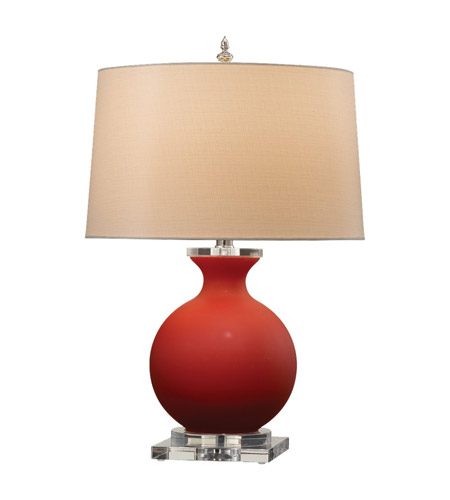 Feiss Lainey 1 Light Table Lamp in Red Cased 9734RC photo