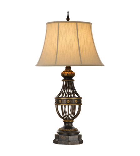 Feiss Augustine 1 Light Table Lamp in Antique Brown 9766ANB photo