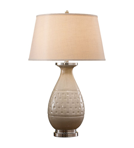 Feiss Addie 1 Light Table Lamp in Light Sand Crackle 9773LSC photo