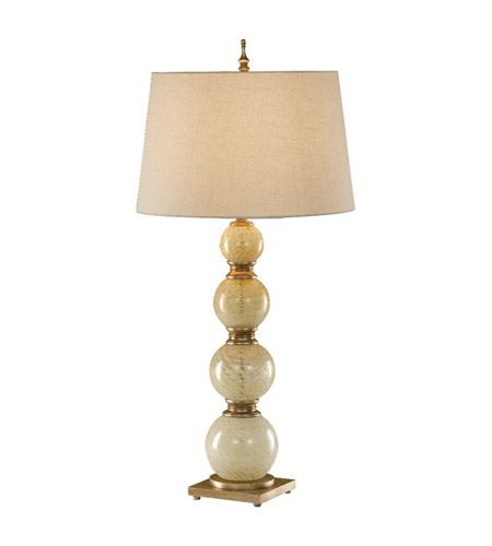 Feiss Avery 1 Light Table Lamp in Cashmere Webbed Glass 9837CWG photo
