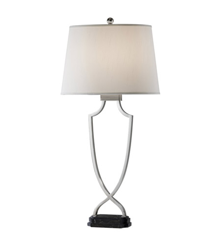 Feiss Quinn 1 Light Table Lamp in Polished Nickel and Black Marble Base 9926PN/BMB photo