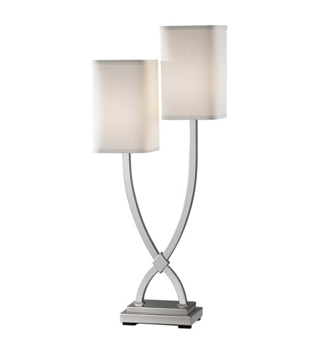 Feiss Carlin 2 Light Table Lamp in Polished Nickel 9929PN photo