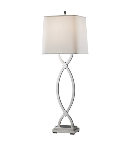 Feiss Carlin 1 Light Table Lamp in Polished Nickel 9930PN photo