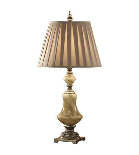 Feiss Elizabetta 1 Light Table Lamp in Cafe Au Lait Glass and Aged Silver Leaf 9937CAG/AGS photo