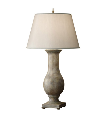 Feiss Zoe 1 Light Table Lamp in Weathered Gray 9950WGY photo