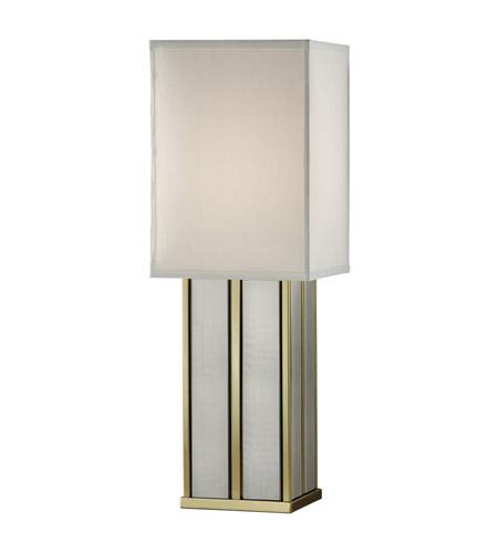 Feiss Sloane 1 Light Table Lamp in Polished Brass and Brushed Steel 9964PB/BS photo