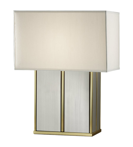Feiss Sloane 1 Light Table Lamp in Polished Brass and Brushed Steel 9965PB/BS photo