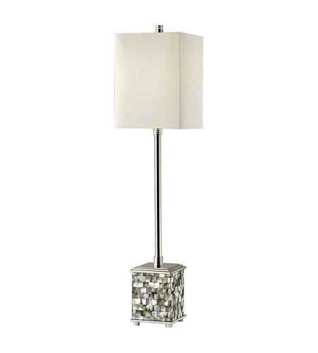 Feiss Aria 1 Light Buffet Lamp in Polished Nickel and Black Pearl Shell 9987PN/BKPS photo