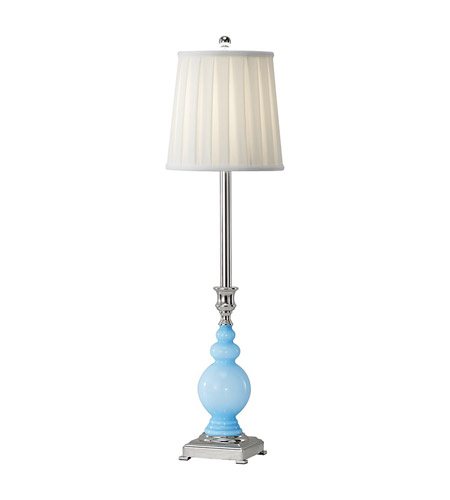 Feiss Sidonia 1 Light Buffet Lamp in Polished Nickel and Blue Cased Venetian Glass 9997PN/BCVG photo