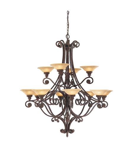 Feiss Casbah 12 Light Chandelier in Palladio F1719/12PAL photo
