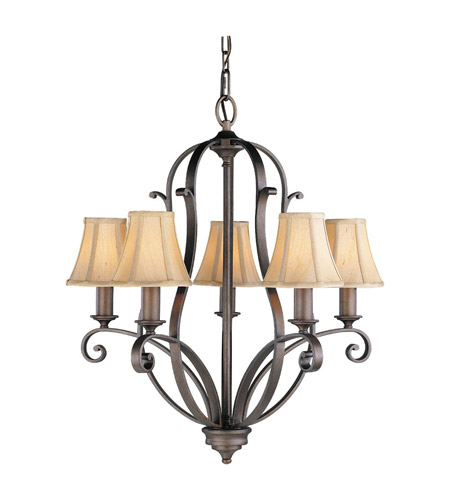 Feiss F1839/5CB Tuscan Villa 5 Light 24 inch Corinthian Bronze Chandelier Ceiling Light photo