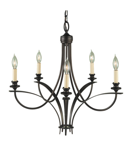Feiss F1888/5ORB Boulevard 5 Light 26 inch Oil Rubbed Bronze Chandelier Ceiling Light photo
