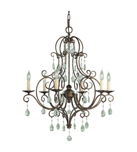 Feiss Chateau 6 Light Chandelier in Mocha Bronze F1902/6MBZ photo