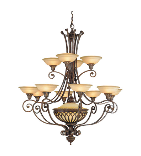 Feiss Stirling Castle 13 Light Chandelier in British Bronze F1918/12+1BRB photo