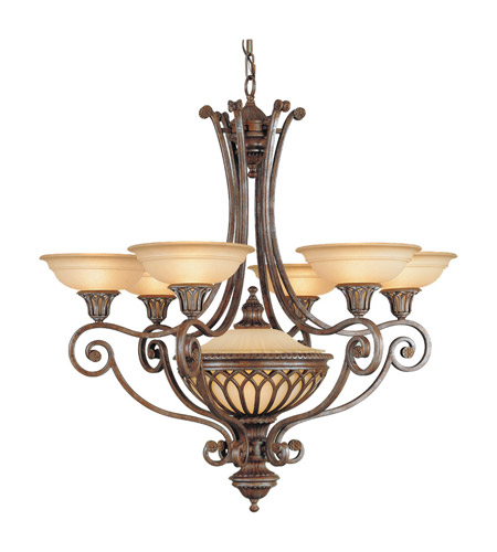 Feiss Stirling Castle 7 Light Chandelier in British Bronze F1919/6+1BRB photo