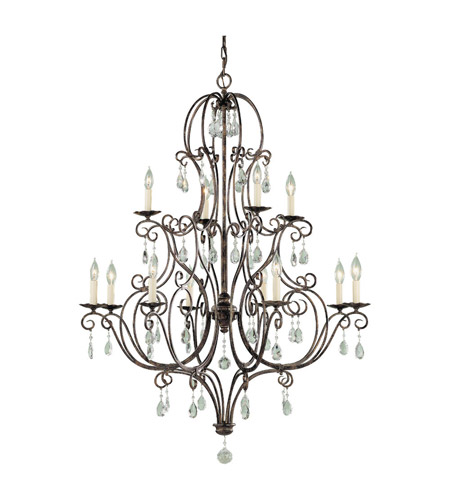 Feiss Chateau 12 Light Chandelier in Mocha Bronze F1938/8+4MBZ photo