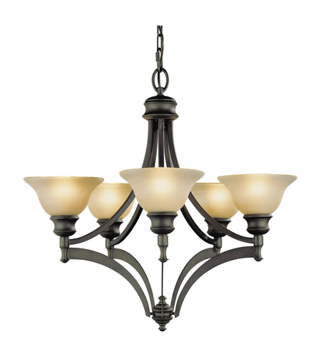 Feiss F1942/5ORB Pub 5 Light 26 inch Oil Rubbed Bronze Chandelier Ceiling Light photo