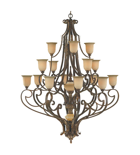 Feiss Coventry Castle 17 Light Chandelier in Aged Tortoise Shell F2008/8+4+4ATS photo