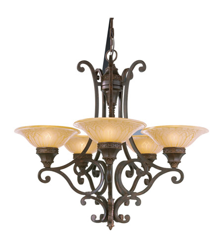Feiss Casbah 5 Light Chandelier In Palladio F2030 5pal