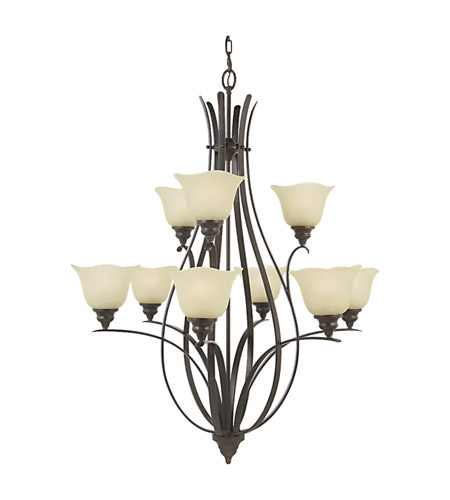Feiss Morningside 9 Light Chandelier in Grecian Bronze F2052/6+3GBZ photo